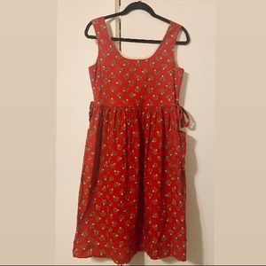 Vintage French Horn and Holly Dress